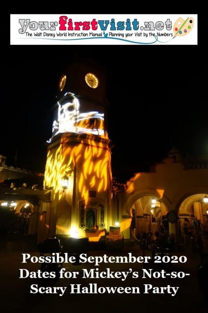 September 2020 Mickeys Not So Scary Halloween Party Possible September Dates for Mickey's Not So Scary Halloween Party
